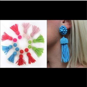 Lisi Lerch tassel earrings in turquoise